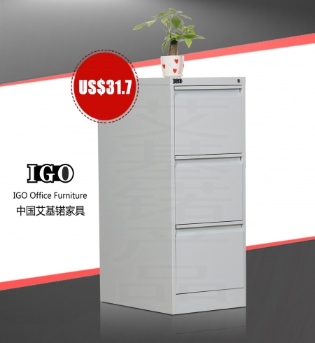 IGO-D03 3 Drawer Metal Filing Cabinet