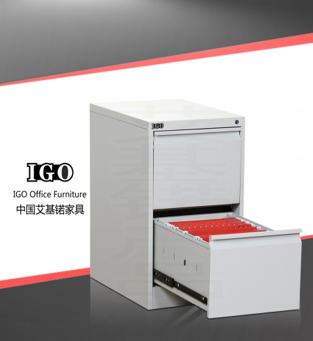 IGO-D02 2 Drawer Metal Filing Cabinet