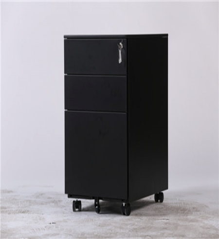 IGO-P02 Black Color Steel 3 Drawer Filing Pedestal