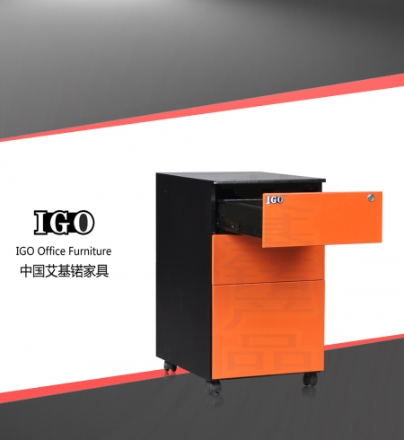 IGO-P02 Metal 3 Drawer BBF Mobile Pedestal