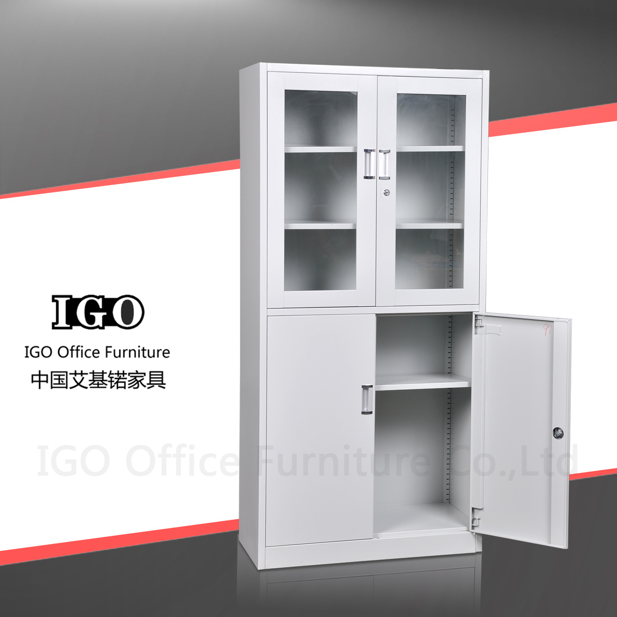 Glass file cabinets