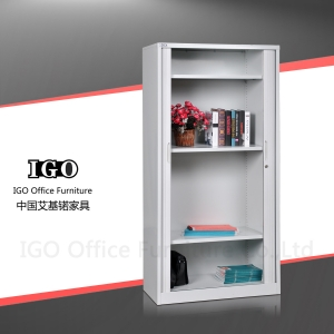 What is the main material of the metal filing cabinet?